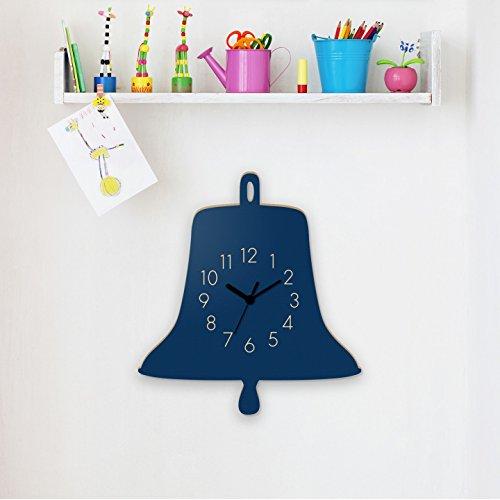 Wanduhr Schiffsglocke-Blau, Kinderuhr, Uhr für Kinderzimmer