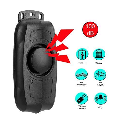 Draadloos trilalarm, trilalarm voor motorfietsen, draadloos diefstalalarm voor motorfietsen met 100 dB USB-afstandsbediening, instelbare antidiefstalalarmsystemen op 5 niveaus