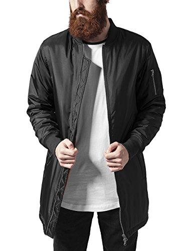 Urban Classics Herren Long Bomber Jacket Jacke, Schwarz (black 7), Large