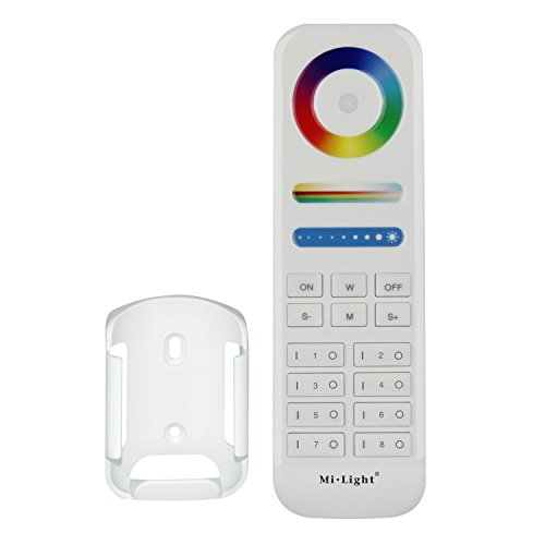 LIGHTEU®, 8-zone RGB + CCT-afstandsbediening, 2,4 GHz draadloos, volledig compatibel met RGBCCT-serie, Milight LED-verlichting, 5-in-1-controllers, fut089