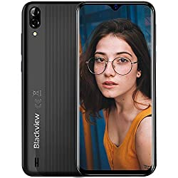 Blackview A60 Smartphone ohne Vertrag Günstig 6,1 Zoll Wassertropfen Bildschirm 4080mAh Akku, 13MP+5MP Dual Kamera 16GB ROM, 128 GB erweiterbar Dual SIM Android 8.1 (Go Edition)Handy-Schwarz