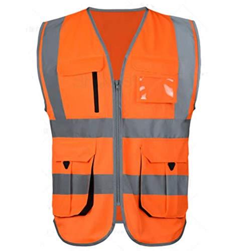 Vest Reflecterende veiligheid Hig Zichtbaarheid Reflecterende Vest Oranje Veiligheid Hi Vis Werkkleding Compnay Logo afdrukken XL-Chest124cm Hi Vis Orange