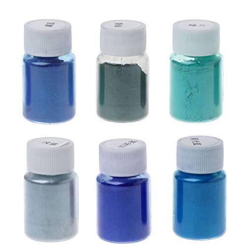 Moregirl 6 Colores Polvo de Resina de Grado cosmético Mica Natural Pigmento Perlado Mineral jabón Maquillaje colorante Tinte fabricación de Joyas
