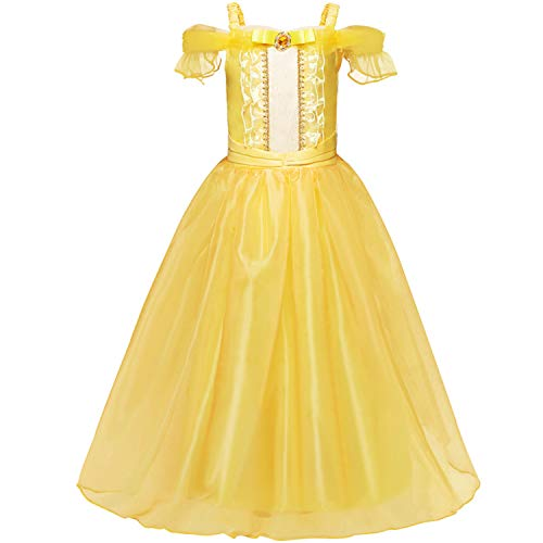 NNJXD Mädchen Kostüme Karneval Verkleiden Sich Prinzessin Halloween Party Kleide...