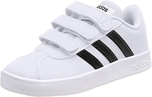 Adidas Vl Court 2.0 Cmf C, Zapatillas de deporte Unisex Niños, Blanco (Ftwr White/Core Black/Ftwr White), 36 2/3