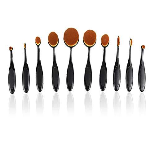 10pcs Make-up-pinsel-set Weich Oval Zahnbürste Shaped Foundation Contour Pinsel Powder Blush Conceler Eyeliner Blending Brush Besten Geschenke Für Frauen Mädchen