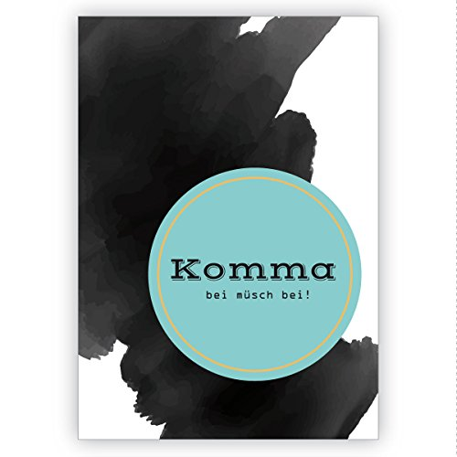 Liefdeskaart op een plaat van gaatje: komt bij müsch bij! • mooie groet vouwkaart met envelop binnen blanco voor lieve woorden 4 Grußkarten