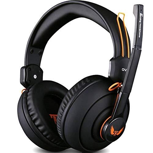 Gaming Kopfhörer Computer Kopfhörer Headset Mit Mikrofon Lautstärkeregler Gamer Studio Bass Noise Isolating Ovann 3,5 Mm X 7 Kopfhörer (Color : No Box)