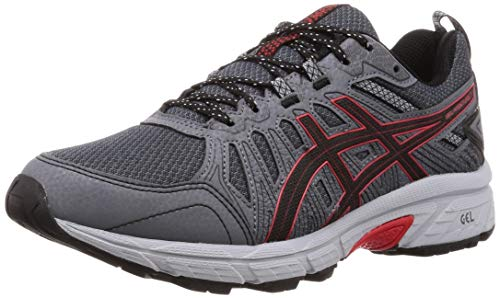 Asics Gel-Venture 7 Hombre Running Trainers 1011A560 Sneakers Zapatos (UK 13 US 14 EU 49, Black Classic Red 003)