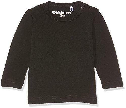 DIRKJE Unisex Baby Long Sleeves T-Shirt, Schwarz (Black), 116
