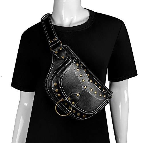MAATCHH-SOHW Männer Frauen Mehrzweck Bein Arm Tasche Steampunk Retro Motorrad Tasche Lady Bag Retro Rock Gothic Goth Schulter Gürteltasche Drop Leg Bag Steampunk Bag Wallet Purse Pouch Tasche