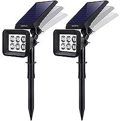 top rated InnoGear outdoor solar light, 6 landscape LED solar light 2-in-1 IP65 waterproof car … 2021