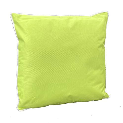 heimtexland ® Outdoorkissen Dekokissen Lotus Effekt Schmutz- und Wasserabweisend Garten Outdoor Kissen Tropical 45x45 Lemon Typ687