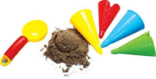 Gowi 558-41 Sandform Eiscreme, 5teilig im Netz, Sandkästen und Sandspielzeug