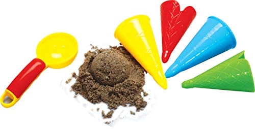 Gowi 558-41 Zandvorm ijs, zandbakjes en zandspeelgoed, 5 reserveonderdelen in het net