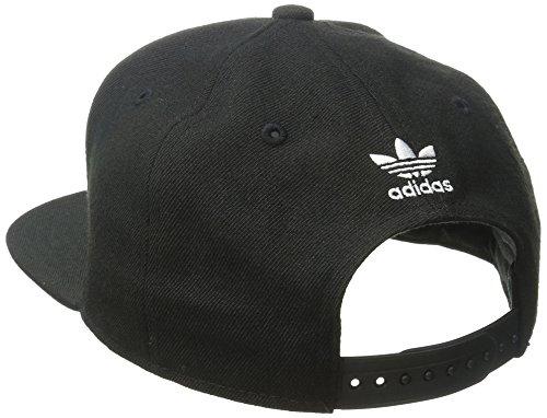 adidas Men's originals snapback flatbrim cap, Black/White, One Size