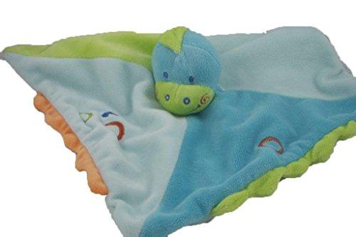 Kiabi - Doudou Kiabi Kitchoun dinosaure plat bleu vert -