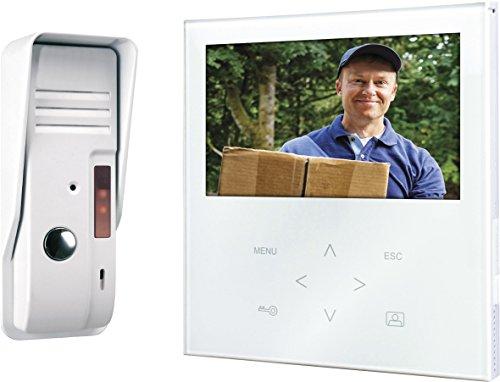 Smartwares VD71 SW video-deurintercom met vlak touchscreen-paneel, kleurenbeeldmonitor