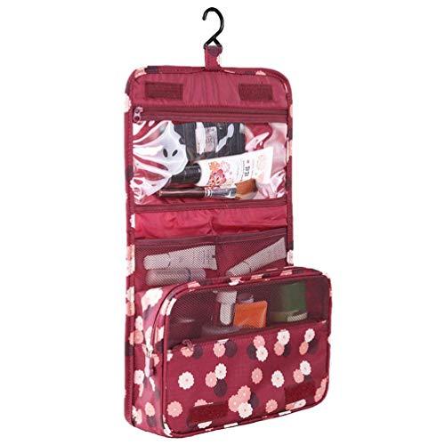 KAEHA SUN-42-00-Folwer - Beauty case con gancio, impermeabile, per viaggio, campeggio, colore: rosso