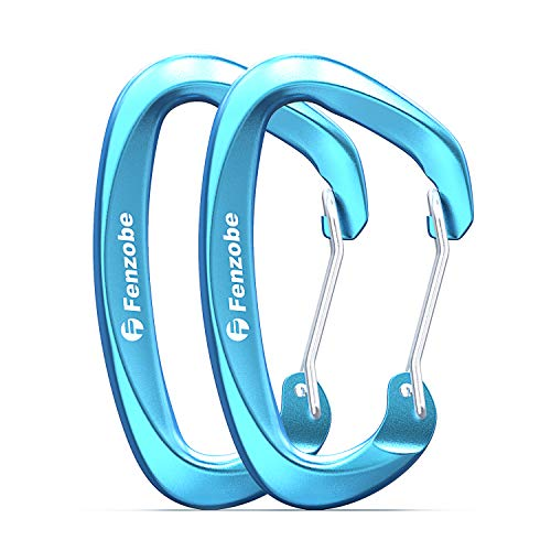 Fenzobe 12KN Wire Gate Carabiner Clip Hook Heavy Duty for Hammock, Hiking, Outdoors, Keychain and More