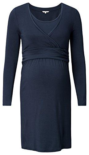 Noppies Damen Umstandskleid mit Stillfunktion, Knielang, Gr. 42 (Herstellergröße: XL), Blau (Dark Blue C165)