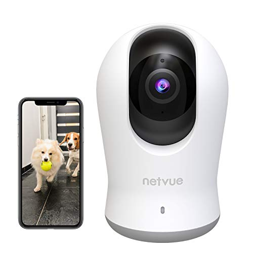Netvue Indoor Camera 2K, Pet Camera Night Vision, Home Camera with H.265 High-Efficiency Video Coding for Pet/Baby/Nanny, Dog Camera 2-Way Audio, AI Human Detection, 2.4GHz WiFi, Support Cloud/SD