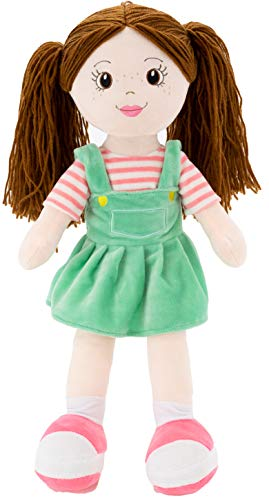 """PLUSHIBLE BRIDGING MILES WITH SMILES Sharewood Forest Friends - Plush Stuffed Animal for Girls and Boys - 18"""" Rag Doll (Allie The Rag Doll)"""