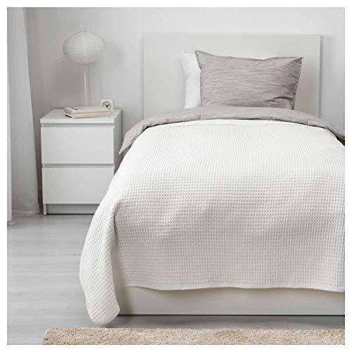 IKEA VARELD Tagesdecke in weiß; 100prozent Baumwolle; (150x250cm)