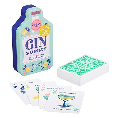 Ridley's Games GME024 Spielkarten Gin Rummy in CDU von 6, Petrol