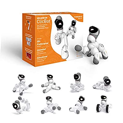 ClicBot Coding Robot Kits for Kids ,STEM Educational Toys for Programming with Remote Control, Blocks Robot withTouch Screen for Age 8+(Standard Kit) from KEYi TECH