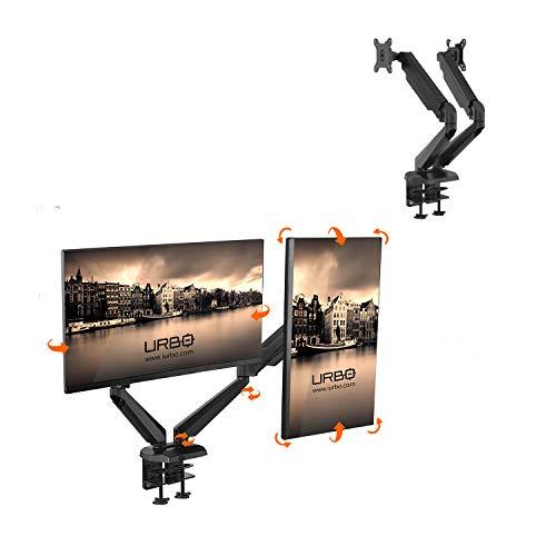 Urbo Dokkum Ergonomische Dubbele Monitorarm met VESA Mount voor schermen tot 81 cm (32 inch)