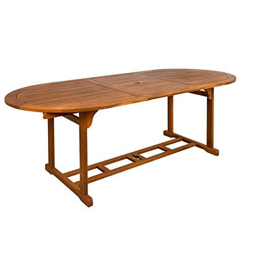 Aktive 61026 - Mesa ovalada e x tensible en madera acacia Garden