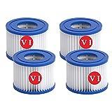 ZBCN Filtro para bomba de piscina, filtro Bestway VI, repuesto para spa, filtro de limpieza de piscina inflable (10,7 x 8,0 cm) (4)