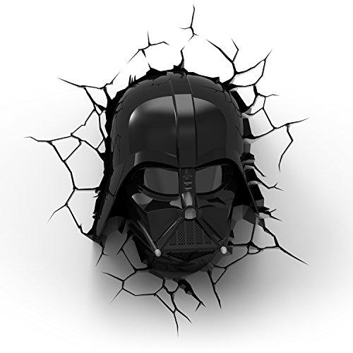 3D Light FX Star Wars Darth Vader 3D Deco Light, Black/Red
