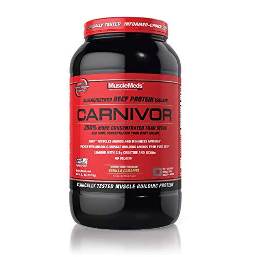 MuscleMeds 952g Vanilla Caramel Carnivor Beef Protein Isolate Powder