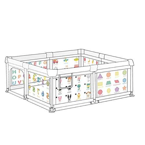 34 sq ft GrünKinder Trampoline Indoor mit Atmungsaktivem Netz,6 eckig Adam Und Eule Laufgitter für Babys Kleinkind Neugeborene Säuglingszaun Baby Sicherheitszaun Faltbarer Zaun Kinder Innenzaun Spiel