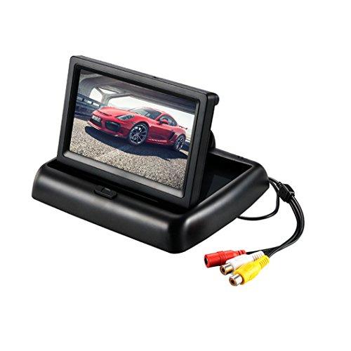 HJJH 4.3 dans L'affichage Pliant Automatique 12-24V Entrée Générale Camion 2 RCA Canal Vidéo Caméra De Recul/Visée Arrière/DVD/Lecteur Multimédia