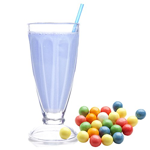 Bubble Gum blau Molkepulver Luxofit mit L-Carnitin Protein angereichert Aspartamfreier Wellnessdrink (1 kg)