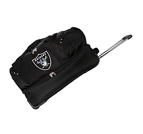 Purchase Concept One Accessories NFL Denco 22-Inch Drop Bottom Rolling Duffel Luggage, Black