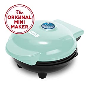Dash Mini Maker: The Mini Waffle Maker Machine for Individual Waffles, Paninis, Hash browns, & other on the go Breakfast, Lunch, or Snacks - Aqua from StoreBound