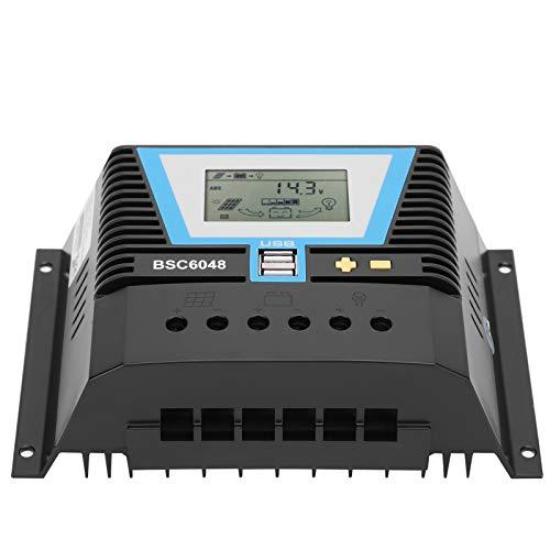 Controlador solar inteligente, controlador solar fácil de transportar para baterías de gel para baterías ternarias de litio para fosfato de hierro y litio para plomo-ácido líquido