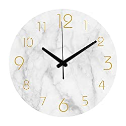 N /A Wall Clock Nordic 3D Large Wall Clock Quartz Modern Design Home Decor Bedroom Silent Oclock Watch Wall Kids Clock for Children Room