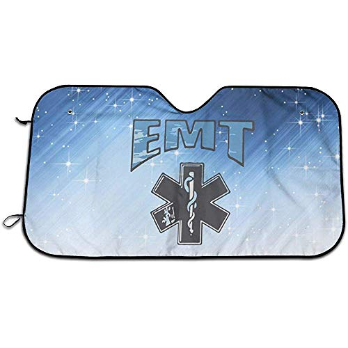 Kncsru EMT Rettungssanitäter Auto Windschutzscheibe Sonnenschutz UV-Schutz Doppelfolie Jumbo Faltbarer Sonnenschutz