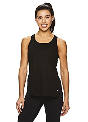 Nicole Miller Active Women's Side Slit Racerback Tank Top - Tunic Style Workout Shirt