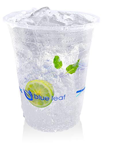 Eco Friendly Compostable Cold Cups | Clear Cocktail Cups - Plant Based...