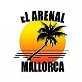 A/X 13 cm 11,4 cm para El Arenal Mallorca calcomanía Maletero Motocicleta RV Coche Pegatinas Parabrisas