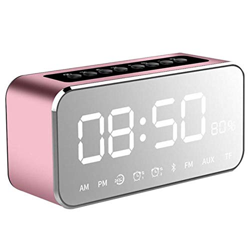 Alarmclocker8B Draagbare MP3 speler spiegel LED stereo luidspreker Bluetooth luidspreker met FM radio tijd alarm