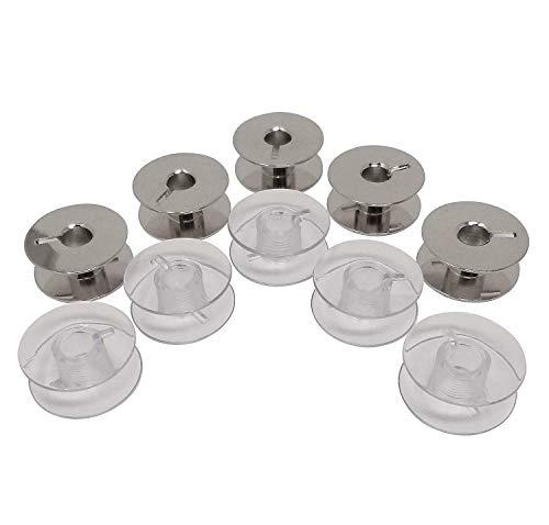 ZickZackNaehmaschine 10 bobinas de plástico/Metal para máquinas de Coser Riccar 8510, 8520, 8530, 8720, 8730, 9620, 9630, 9830