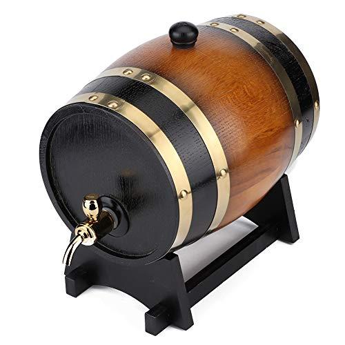 Barril de vino de roble, barril de vino de roble envejecido premium vintage de 3 l con grifo, envejece su propio whisky, cerveza, vino, bourbon, tequila, ron, salsa picante y más para el hogar