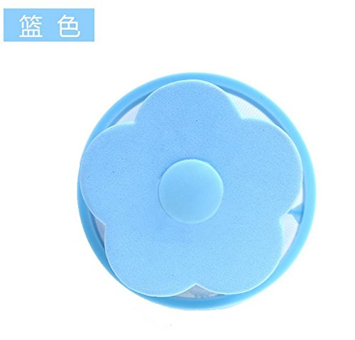 XXAICW Sac en filet Creative Accueil lavage machine filtre flottant hair removal détergent Laundry Ball boule magique boule de nettoyage du filtre Bleu